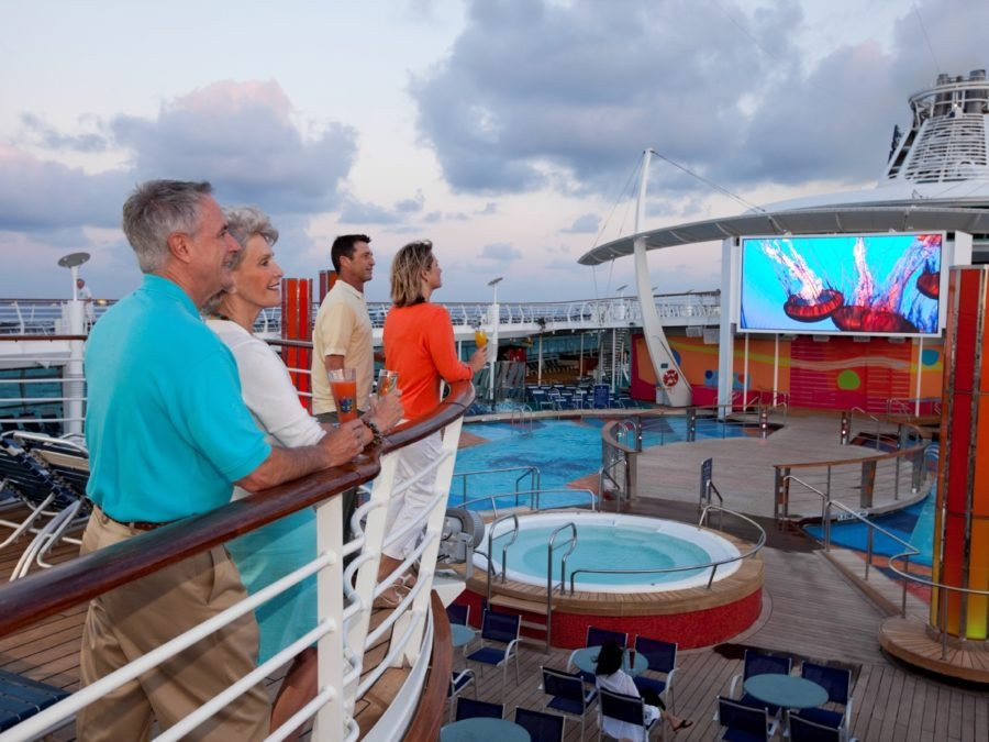 Outdoor Movie Screen Freedom of the Seas - Royal Caribbean International